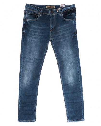 7088 Fashion Red джинсы мужские полубатальные с царапками синие осенние стрейчевые (32-40, 8 ед.) Fashion Red