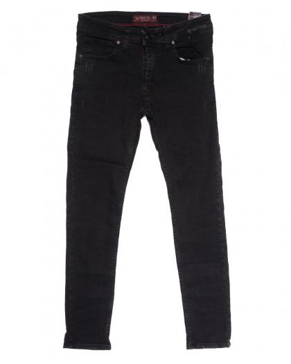 7199 Blue Nil джинсы мужские с царапками серые осенние стрейчевые (29-36, 8 ед.) Destry