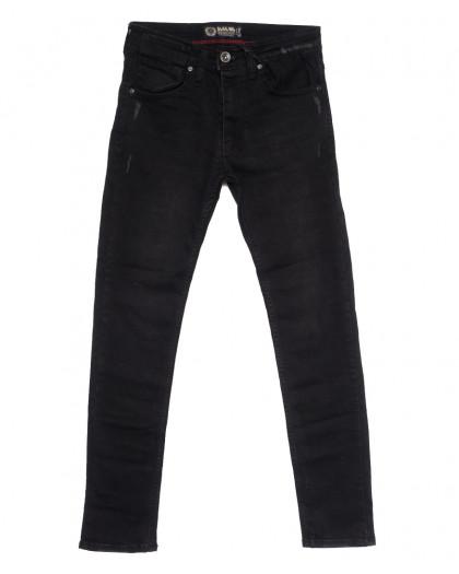 7237 Blue Nil джинсы мужские с царапками черные осенние стрейчевые (29-36, 8 ед.) Destry