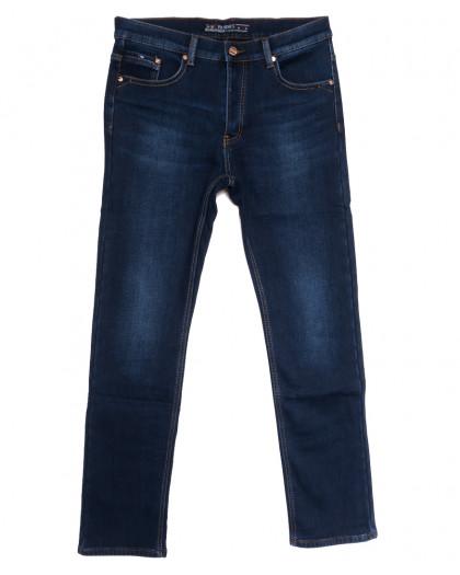 66052 Pr.Minos джинсы мужские полубатальные на флисе синие зимние стрейчевые (32-42, 8 ед.) Pr.Minos