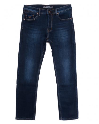 66053 Pr.Minos джинсы мужские полубатальные на флисе синие зимние стрейчевые (32-42, 8 ед.) Pr.Minos