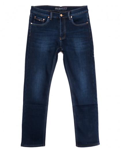 66048 Pr.Minos джинсы мужские полубатальные на флисе синие зимние стрейчевые (32-38, 8 ед.) Pr.Minos