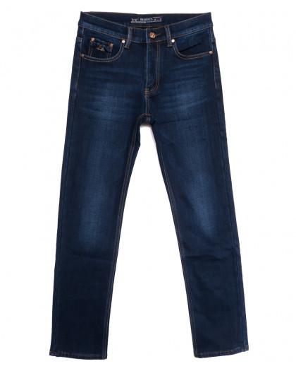 66045 Pr.Minos джинсы мужские на флисе синие зимние стрейчевые (29-38, 8 ед.) Pr.Minos