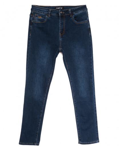 1614 Lady N джинсы женские батальные синие осенние стрейчевые (31-38, 6 ед.) Lady N