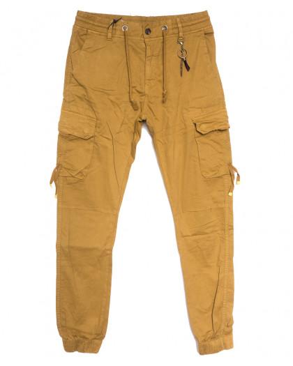 8956-14 песочные брюки карго мужские стрейчевые (5 ед. размеры: 30.32.34.36.38) Брюки