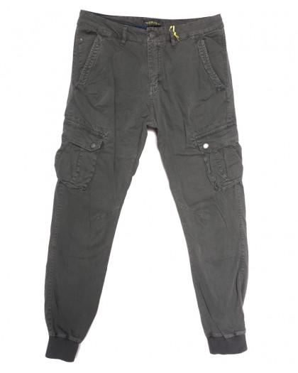 6510-11 серые Caleb брюки карго мужские  стрейчевые (5 ед. размеры: 30.32.34.36.38) Caleb