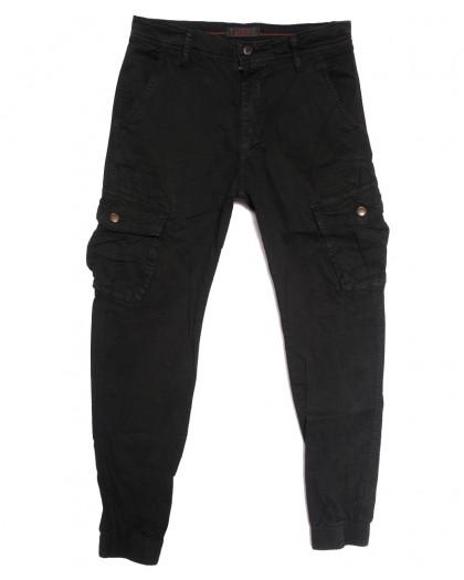 1961-2 Forex брюки карго мужские черные стрейчевые (6 ед. размеры: 28.30.32.34.36.38) Forex