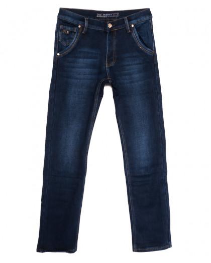 66047 Pr.Minos джинсы мужские на флисе синие зимние стрейчевые (29-38, 8 ед.) Pr.Minos