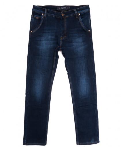 66050 Pr.Minos джинсы мужские полубатальные на флисе синие зимние стрейчевые (32-38, 8 ед.) Pr.Minos