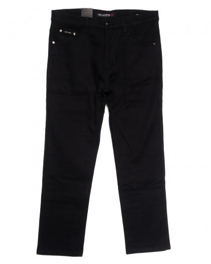 89023 LS джинсы мужские батальные на флисе черные зимние стрейчевые (34-42, 8 ед.) LS