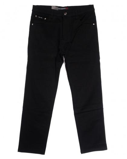 89021 LS джинсы мужские батальные на флисе черные зимние стрейчевые (34-42, 8 ед.) LS