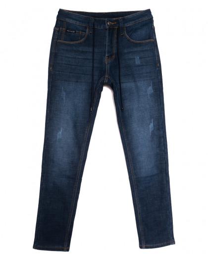 8201 Mark Walker джинсы мужские с царапками на флисе синие зимние стрейчевые (29-38, 8 ед.) Mark Walker