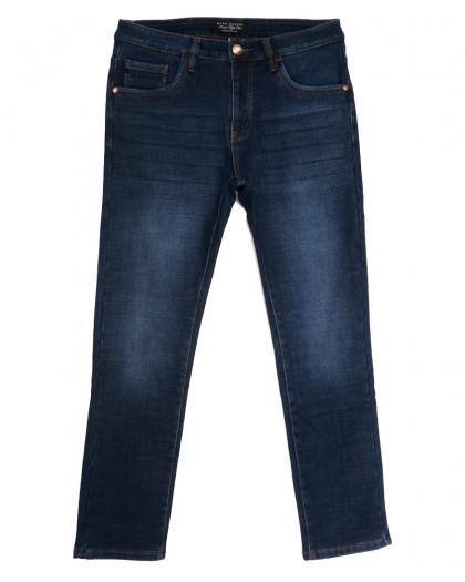 9021 Mark Walker джинсы мужские полубатальные на флисе синие зимние стрейчевые (32-40, 8 ед.) Mark Walker