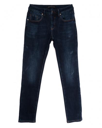 27777 Reigouse джинсы мужские с царапками на флисе синие зимние стрейчевые (29-38, 8 ед.) REIGOUSE