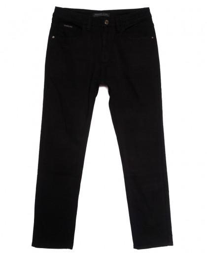 01977 Reigouse джинсы мужские полубатальные на флисе черные зимние стрейчевые (32-40, 8 ед.) REIGOUSE