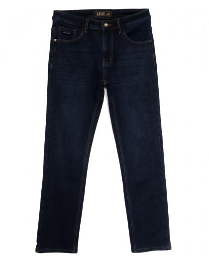 00999 T-Star джинсы мужские полубатальные на флисе темно-синие зимние стрейчевые (32-40, 8 ед.) T-Star