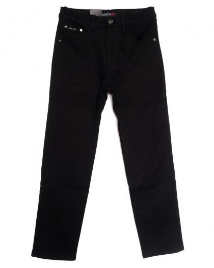 89022 LS джинсы мужские полубатальные на флисе черные зимние стрейчевые (32-38, 8 ед.) LS