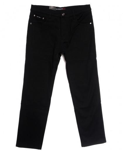 89021 (89021D) LS джинсы мужские батальные на флисе черные зимние стрейчевые (32-42, 8 ед.) LS