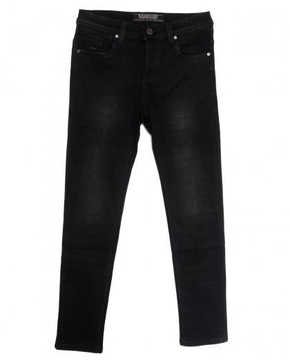 1555 Bagrbo джинсы мужские молодежные на флисе темно-серые зимние стрейчевые (28-36, 8 ед.) Bagrbo