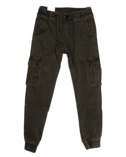 8389 Reman брюки карго мужские на флисе хаки зимние стрейчевые (29-38, 8 ед.) Reman