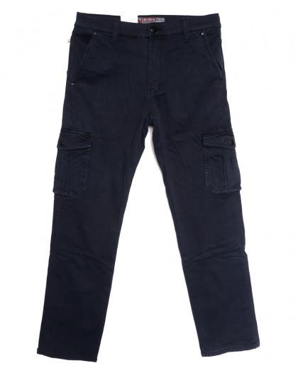 8392 Reman брюки карго мужские полубатальные на флисе темно-синие зимние стрейчевые (32-42, 8 ед.) Reman