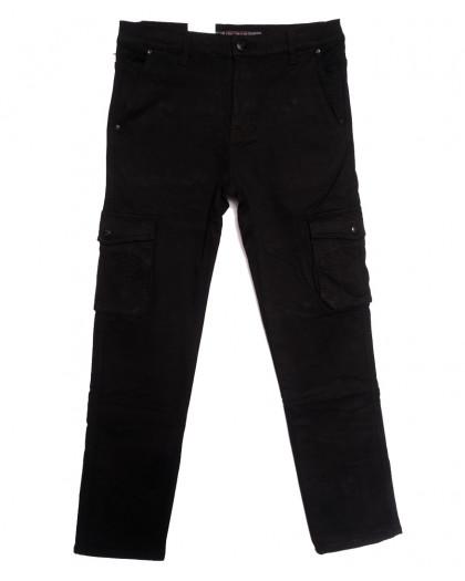 8392 Reman брюки карго мужские полубатальные на флисе черные зимние стрейчевые (32-42, 8 ед.) Reman