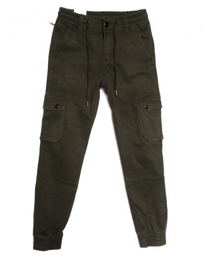 8387 Reman брюки карго мужские молодежные на флисе хаки зимние стрейчевые (28-36, 8 ед.) Reman