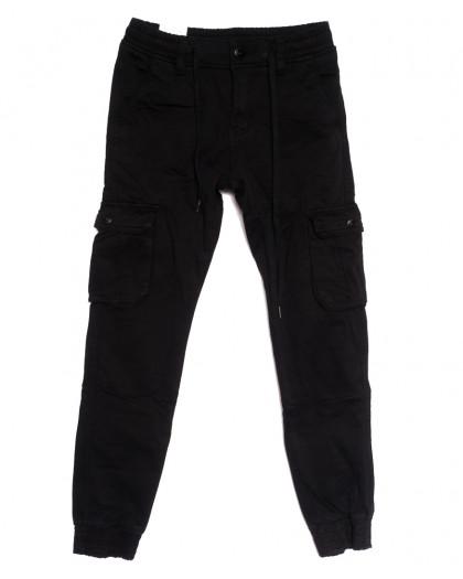 8380 Reman брюки карго мужские молодежные на флисе черные зимние стрейчевые (28-36, 8 ед.) Reman