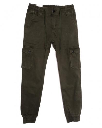 8388 Reman брюки карго мужские молодежные на флисе хаки зимние стрейчевые (28-36, 8 ед.) Reman