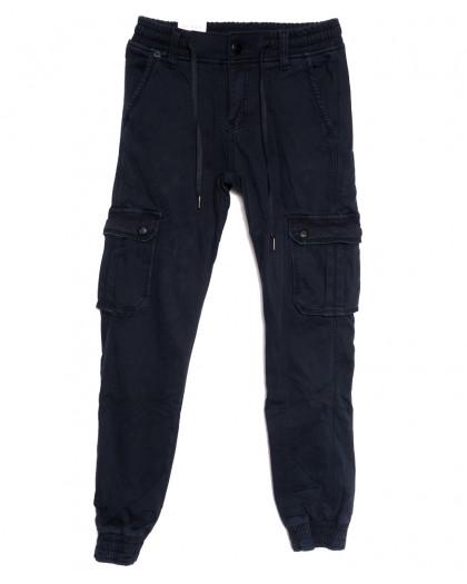 8384 Reman брюки карго мужские молодежные на флисе темно-синие зимние стрейчевые (28-36, 8 ед.) Reman