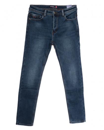 7576 Crossnese джинсы мужские молодежные на флисе синие зимние стрейчевые (28-34, 8 ед.) Crossnese