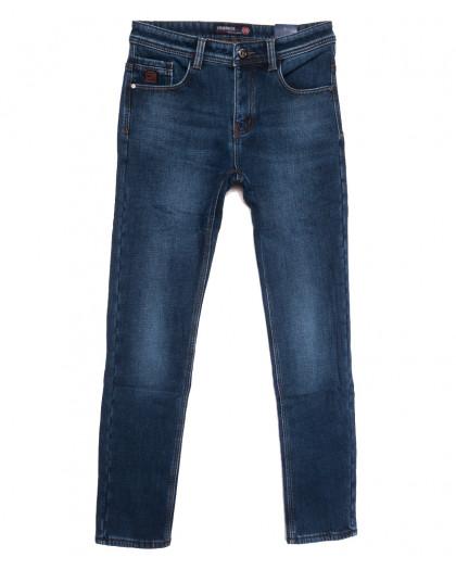 7591 Crossnese джинсы мужские на флисе синие зимние стрейчевые (29-38, 8 ед.) Crossnese