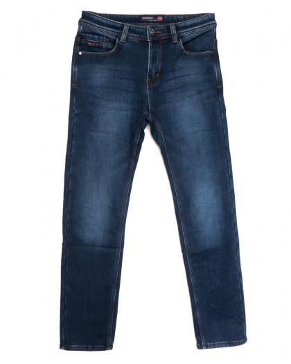 7592 Crossnese джинсы мужские на флисе синие зимние стрейчевые (30-40, 8 ед.) Crossnese
