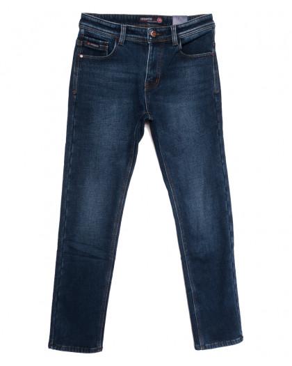 7590 Crossnese джинсы мужские на флисе синие зимние стрейчевые (29-38, 8 ед.) Crossnese