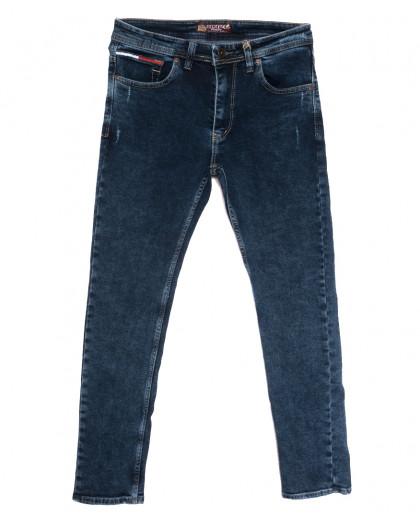 7260 Redcode джинсы мужские полубатальные с царапками синие осенние стрейчевые (32-40, 8 ед.) Redcode