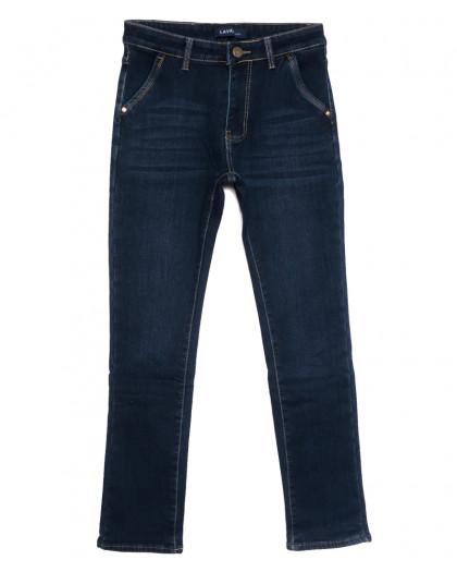 8003 Lavrs джинсы мужские молодежные на флисе синие зимние стрейчевые (28-36, 8 ед.) Lavrs