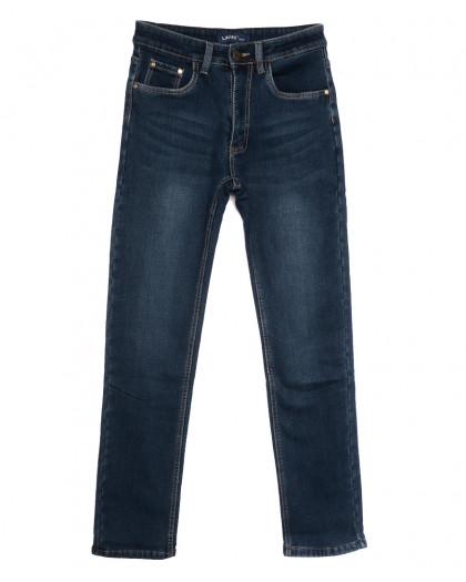 8002 Lavrs джинсы мужские молодежные на флисе синие зимние стрейчевые (28-36, 8 ед.) Lavrs