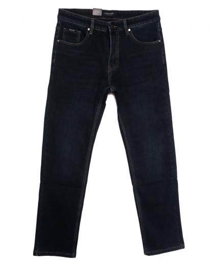 1079 Pаgalee джинсы мужские полубатальные на флисе темно-синие зимние стрейчевые (32-40, 8 ед.) Pagalee