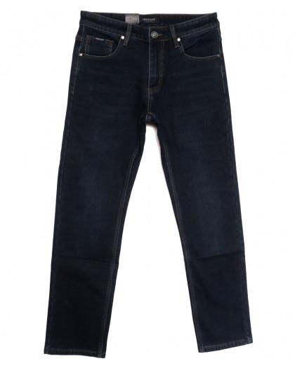 1077 Pаgalee джинсы мужские полубатальные на флисе темно-синие зимние стрейчевые (32-40, 8 ед.) Pagalee