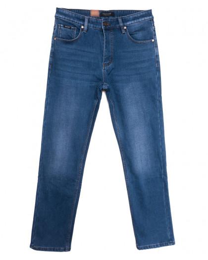 1076 Pаgalee джинсы мужские полубатальные на флисе синие зимние стрейчевые (32-38, 8 ед.) Pagalee