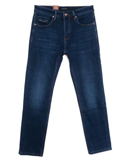 1082 Pаgalee джинсы мужские полубатальные на флисе синие зимние стрейчевые (32-38, 8 ед.) Pagalee