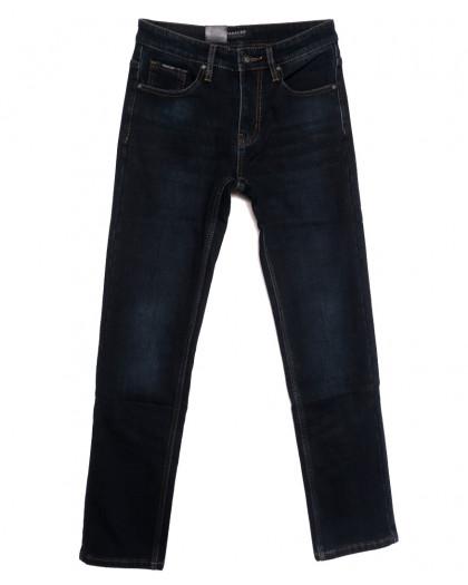1027 Pаgalee джинсы мужские на флисе темно-синие зимние стрейчевые (30-38, 8 ед.) Pagalee