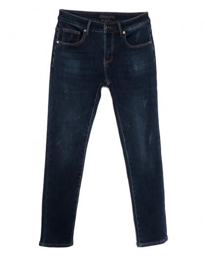 26777 Reigouse джинсы мужские на флисе с царапками синие зимние стрейчевые (29-38, 8 ед.) REIGOUSE