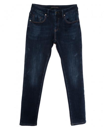 27777 Reigouse джинсы мужские на флисе с царапками синие зимние стрейчевые (29-38, 8 ед.) REIGOUSE