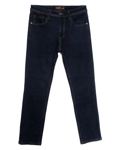 04999 T-Star джинсы мужские полубатальные на флисе темно-синие зимние стрейчевые (32-42, 8 ед.) T-Star