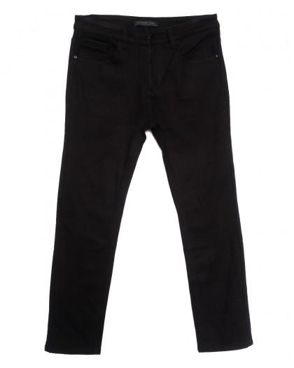 01377 Reigouse джинсы мужские полубатальные на флисе черные зимние стрейчевые (32-42, 8 ед.) REIGOUSE