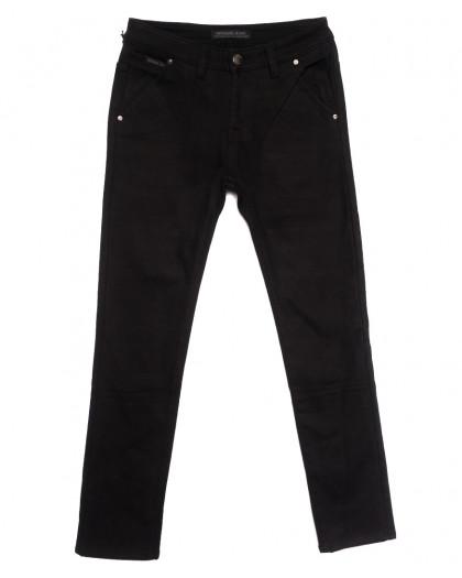 01477 Reigouse джинсы мужские на флисе черные зимние стрейчевые (29-38, 8 ед.) REIGOUSE