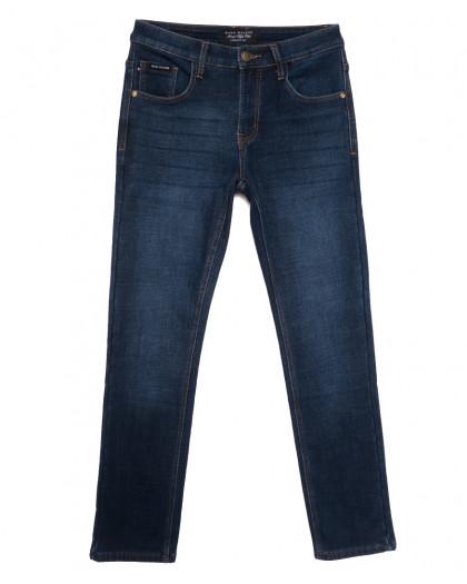 9903 Mаrk Walker джинсы мужские на флисе синие зимние стрейчевые (30-40, 8 ед.) Mark Walker