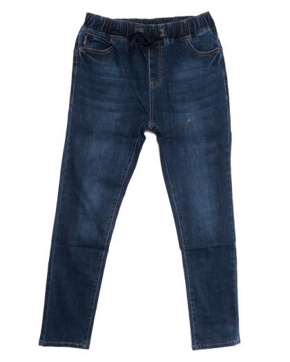1648 Lady N джинсы женские батальные на резинке синие осенние стрейчевые (31-38, 6 ед.) Lady N