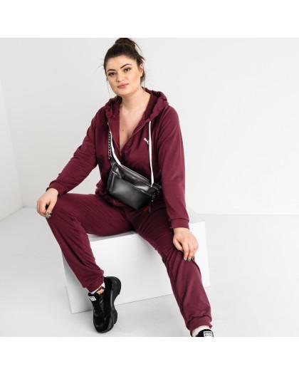 15111-10 Mishely светло-бордовый спортивный костюм батальный женский из двунитки (4 ед. размеры: 50.52.54.56)  Mishely